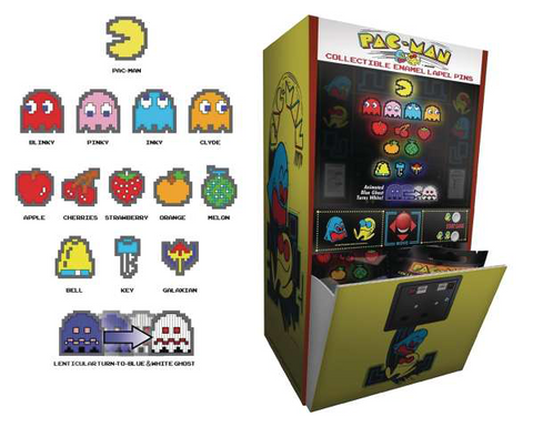 Image of PAC-MAN - COLLECTIBLE ENAMEL PIN SERIES - LOT OF (5) BLIND BAGS