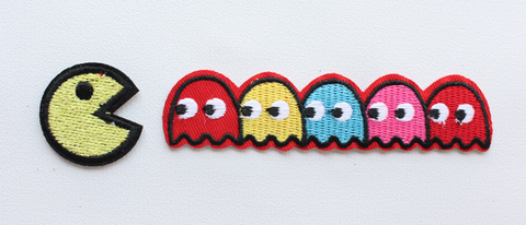 Pac-man ghosts Blinky Pinky Inky Clyde Embroidered Patch