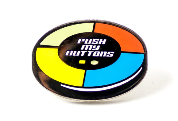 Push My Buttons Enamel Pin - Simon Says