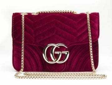 GG VELVET HANDBAG PURSE