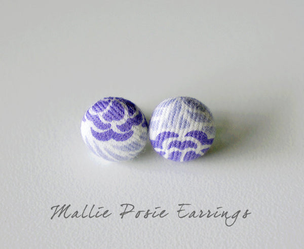 Mallie Posie Handmade Fabric Button Earrings