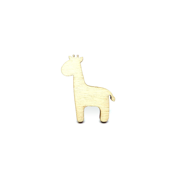 Adorable Giraffe Wooden Brooch Pin