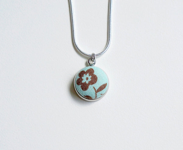 Lorraine Spring Handmade Fabric Button Necklace