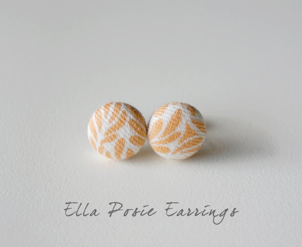 Ella Posie Handmade Fabric Button Earrings