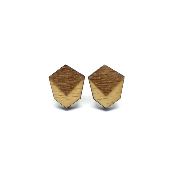 Minimalist Geometric Laser Cut Wood Earrings