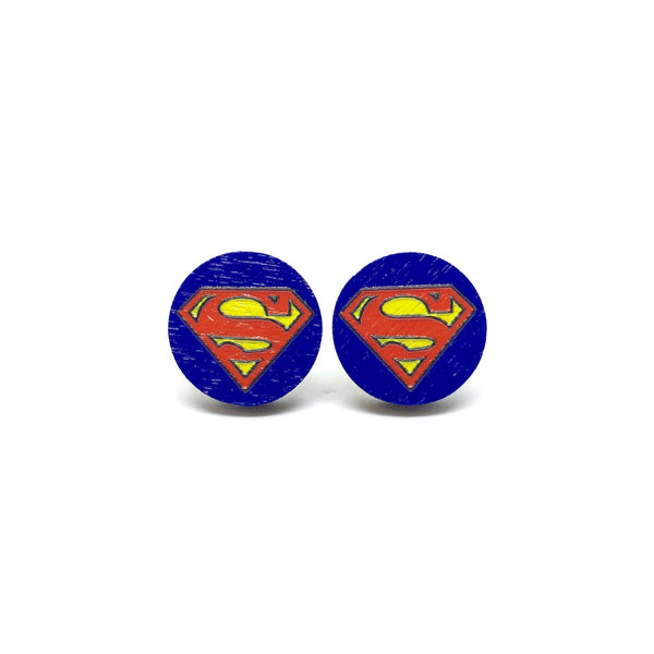 Superman Wooden Earrings