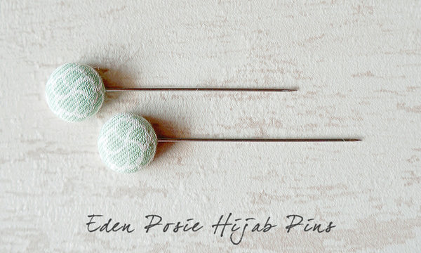 Eden Posie Handmade Fabric Button Hijab Pins