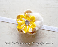 Leah Yellow Poppy Baby Headband