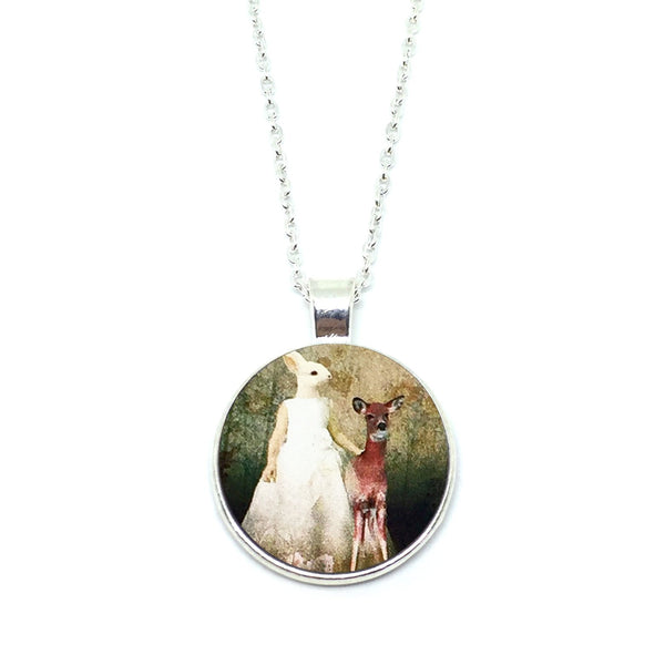 Mythical Rabbitgirl With Fawn Necklace