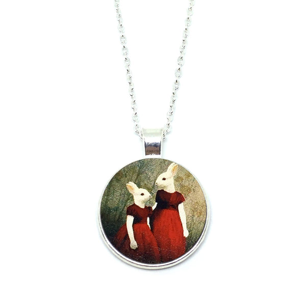 Mythical Rabbitgirl Sisters Necklace