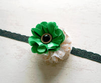 Jade Satin Baby Headband