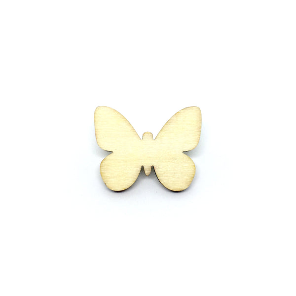 Sweet Butterfly Wooden Brooch Pin
