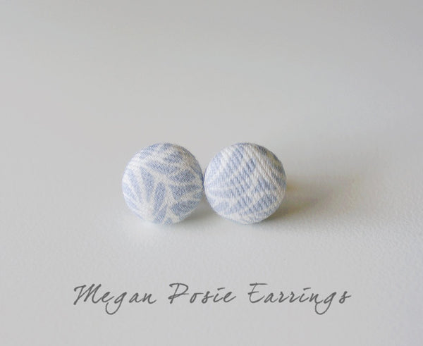 Megan Posie Handmade Fabric Button Earrings