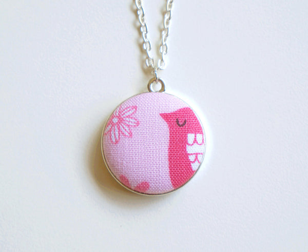 Molly Daisey Handmade Fabric Button Necklace