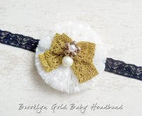 Brooklyn Gold Baby Headband