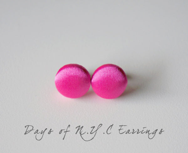Days of N.Y.C Handmade Fabric Button Earrings