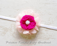 Princess Fuchsia Baby Headband