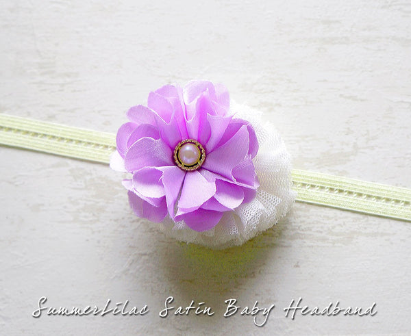 SummerLilac Satin Baby Headband