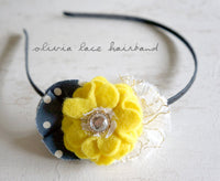 Olivia Lace Handmade Hairband