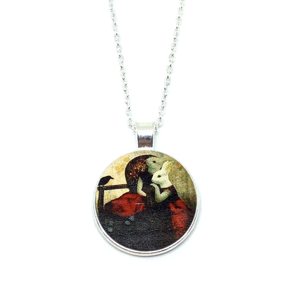 Mythical Rabbitgirls on Throne Necklace