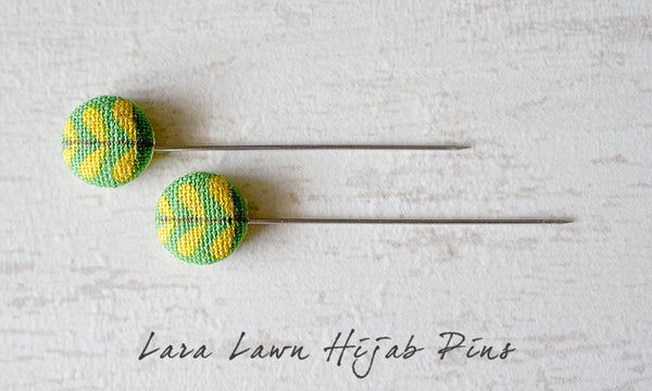 Lara Lawn Handmade Fabric Button Hijab Pins