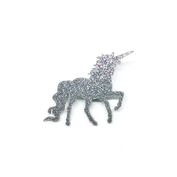 Unicorn Laser Cut Acrylic Brooch Pin