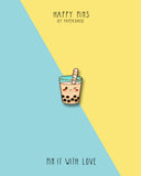 I Love You Like Bubble Tea Enamel Pin