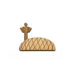 Jewel Changi Airport Wooden Brooch Pin