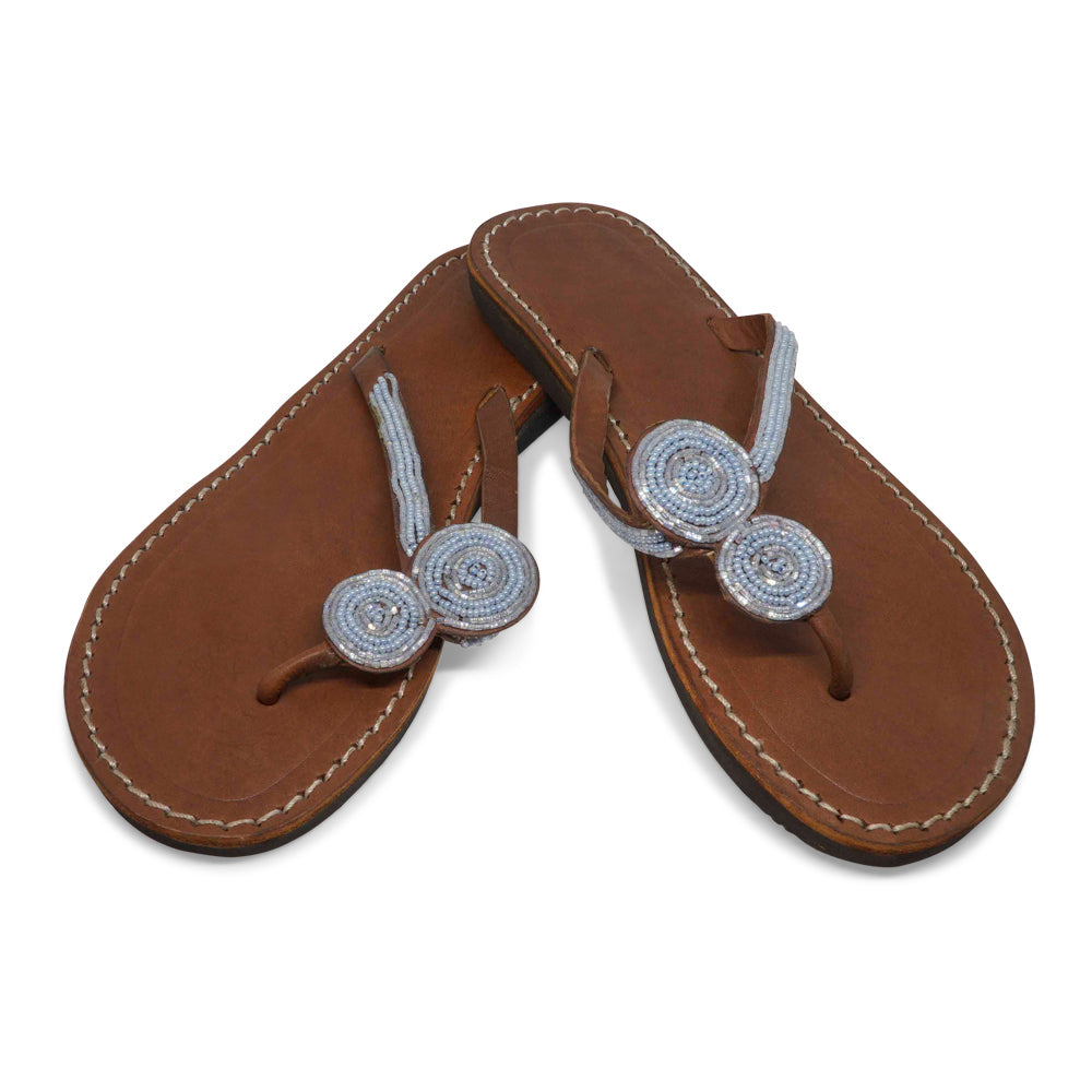 09774d32a TWO ROUNDS AQUA LEATHER SANDALS MEDIUM (EU 37   US 6.5)