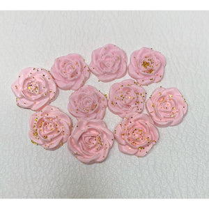 3D PALE PINK Rose Flowers - nail charms