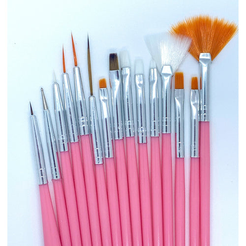 15 pcs nail art brush set