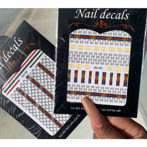 2 Pack Bundle 3D Nail Art Stickers - Luxury Designer Inspired Stickers - Nail Stickers - Designer Nail Decals