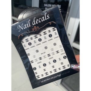 3PCS Chanel Nail Stickers Bundle - Designer Mail Stickers