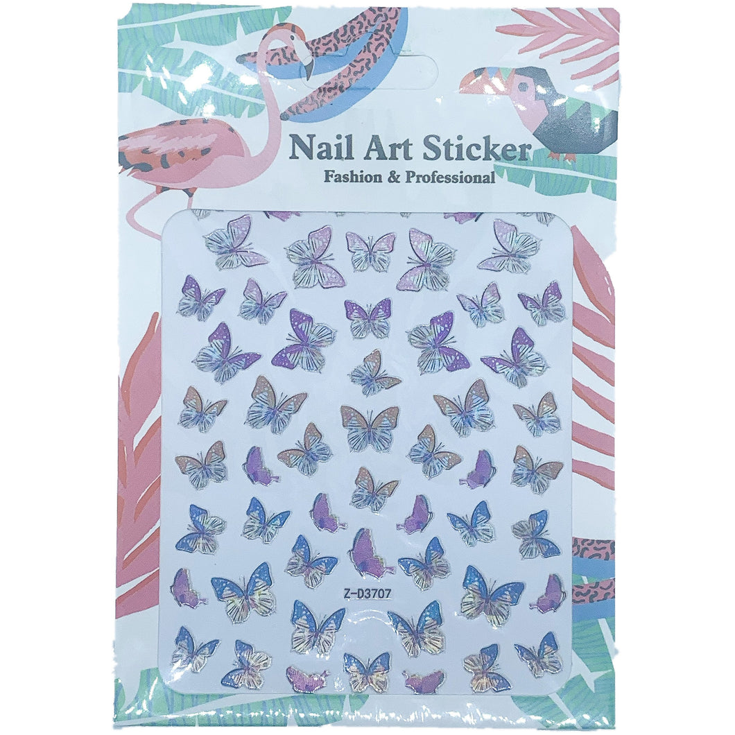 purple butterfly nail stickers