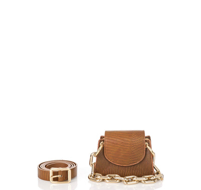 Bellini Cognac Mini Crossbody w/belt