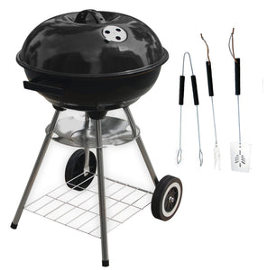 "18"" Kettle BBQ Black With Free 3 Piece Tool Set"