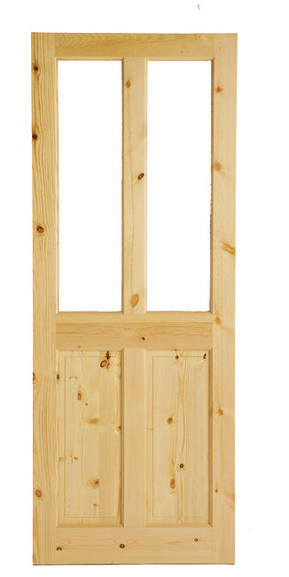 4 Panel Glazed Pine Door