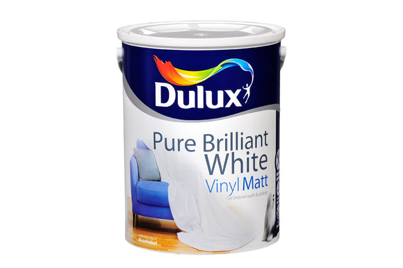 Dulux Vinyl Matt Pure Brilliant White  5L