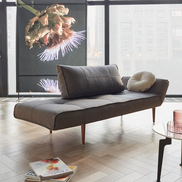 Zeal Grey Convertible Sofa Daybed by Innovation Living