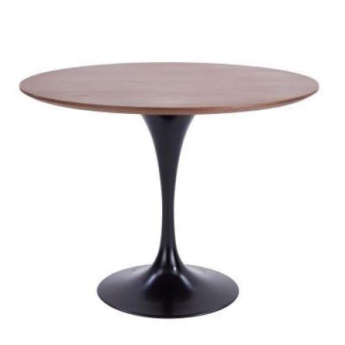 Allie 39 Round Table-Walnut Black Base
