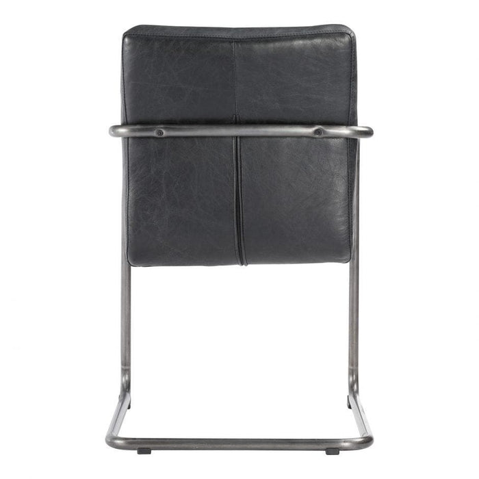 ANSEL ARM CHAIR BLACK-SET OF TWO