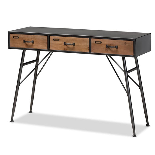 Ariel 3 Drawer Metal Console Table