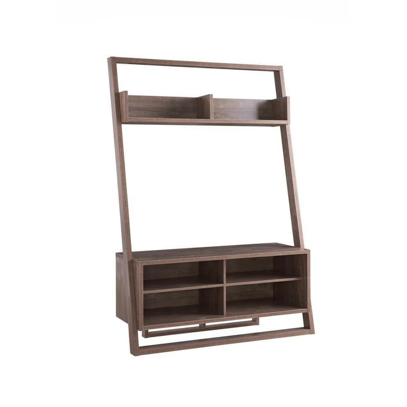 Aries 2 Tier TV Stand With Display Unit Brown