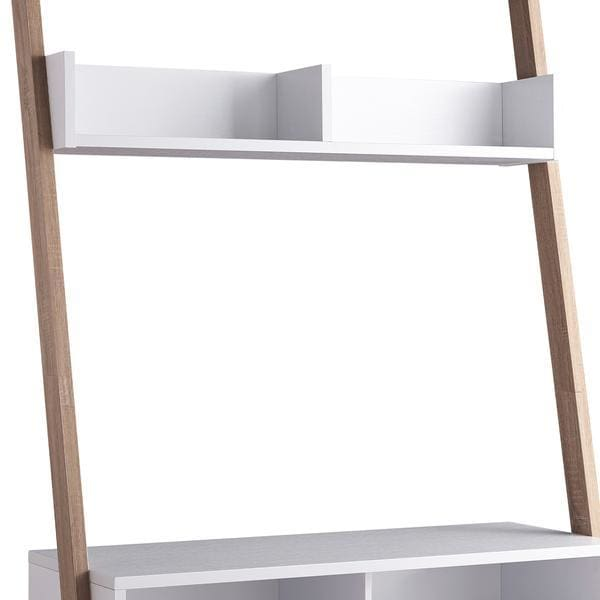 Aries 2 Tier TV Stand With Display Unit White and Brown