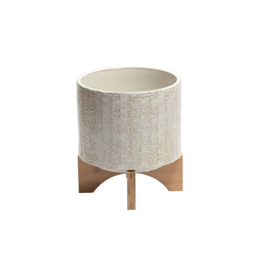 Arista Ceramic Planter With Stand