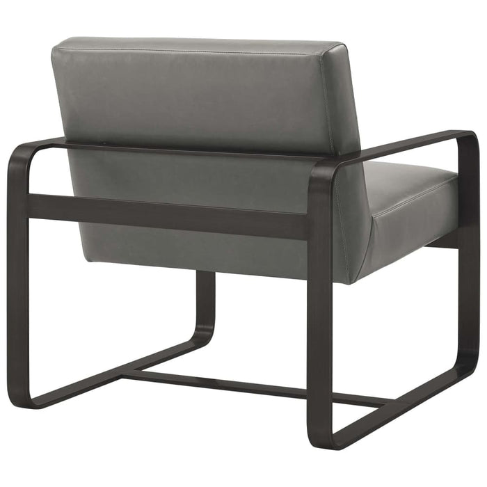 ASTUTE FAUX LEATHER ARMCHAIR