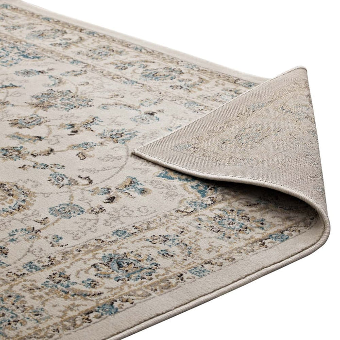 ATARA DISTRESSED VINTAGE PERSIAN MEDALLION 5X8 AREA RUG