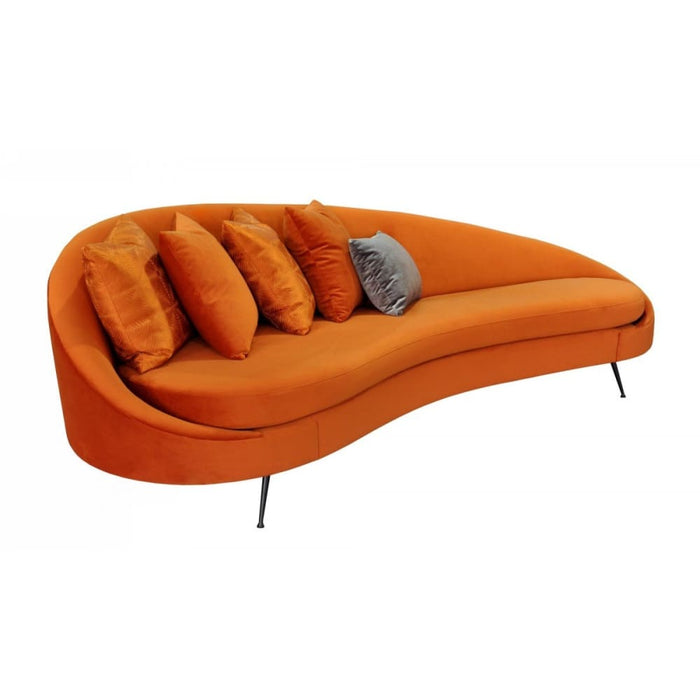 Atomic Retro Pumpkin Sofa
