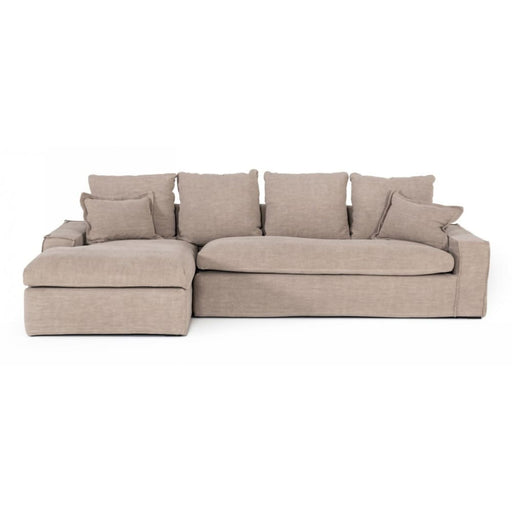 Atrium Classic Natural Fabric Sectional Sofa