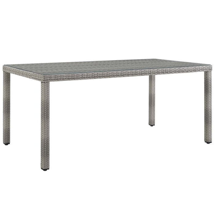 AURA 68 WICKER RATTAN DINING TABLE